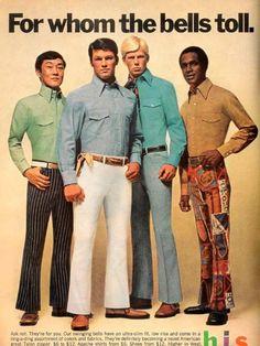 100 plus years in mens fashion bell bottoms Mens Fashion Shoes, Suit Fashion, Fashion Outfits, Fashion Trends, 70s Fashion Men, Fashion Purses, Fashion Wigs, Male Fashion, Fashion 2018