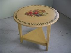 Painted Round End Table