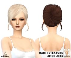 MISSPARAPLY : Hair retexture - Skysims 148.