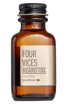 Men's beardbrand 'Four Vices' Beard Oil. Valentines!