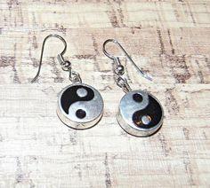 Yin Yang Balance Women's Healing Dangle Earrings by LotusReigns, $12.00