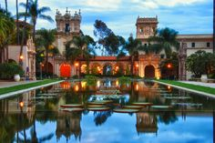 Balboa Park is a 1,200-acre urban cultural park in San Diego, California. In addition to open space areas, natural vegetation zones, green belts, gardens and walking paths, it contains museums, several theaters, and the world-famous San Diego Zoo. There are also many recreational facilities and several gift shops and restaurants within the boundaries of the park. Placed in reserve in 1835, the park's site is one of the oldest in the United States dedicated to public recreational use.