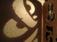 Create typeface out of shadows. Can use the shadow or the light to create letter forms.