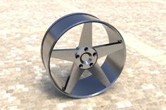 Um aro de pneu.