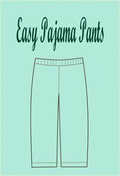 FREE SEWING PATTERN: easy pajama pattern