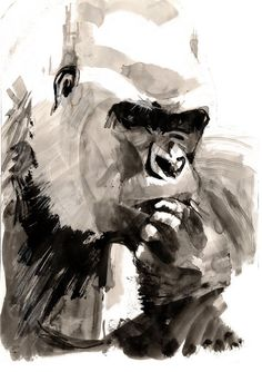 by Sarah Maycock. I think what my bathroom is missing is this gorilla.