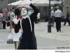 Not sure whos the better mime here