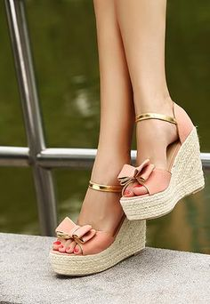 Casual Summer Shoes - Must Have Footwear Collection. The Best of wedges in - Shoes Fashion & Latest Trends Pink Sandals, Wedge Sandals, Wedge Shoes, Shoes Heels, Espadrille Wedge, Sandals Outfit, Pink Shoes, Dream Shoes, Crazy Shoes