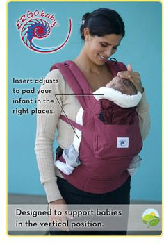 http://www.specialtytoystores.com/category/ergo-baby-carrier/ ERGO Baby Carrier Infant Insert which can be rocked with any carrier of your choice