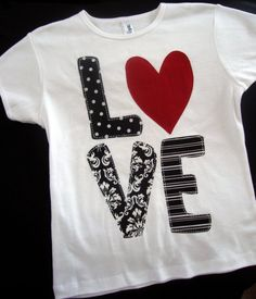LOVE Shirt--available in short and long sleeves, bodysuit and tank styles on Etsy, $22.00
