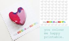 """Free Valentine's Day or anyday """"color me"""" printable - crayons ..."""