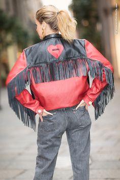 #elenabarolo wears #moschino jacket and #cabanromantic jeans
