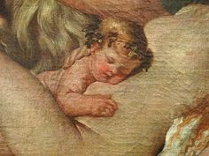 """POUSSIN Nicolas 1624-25 - L'Enfance de Bacchus, La Petite Bacchanale (Louvre) - Detail 13  - TAGS/ details détail détails detalles painting  """"peintures 17e"""" """"17th-century paintings"""" Museum France Paris femme woman """"jeune femme"""" """"young woman"""" man men hommes people boy """"little boy"""" garçon enfant kid kids child children """"naked woman"""" """"femme nue"""" female bare naked nude nue sensuelle animal animals animaux chèvre goat agneau lamb boire boisson drink fête feast repas meal raisin grape fruit Ovide…"""