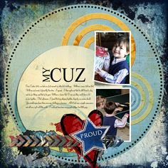 My Cuz Digital Scrapbooking Layout by Kim Thompson