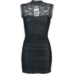 Das gibt's NUR bei uns: Das schwarze Miriam Kleid von Gothicana lässt euch verdammt gut aussehen – EMP-Ehrenwort. Das hochschließende Spitzenkleid zieht besonders durch die Spitze verdammt viele Blicke auf sich! Das Kleid ist ca. 85 cm lang.