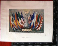 flags print - vintage - good collectable  -free shipping worldwide- sold as is