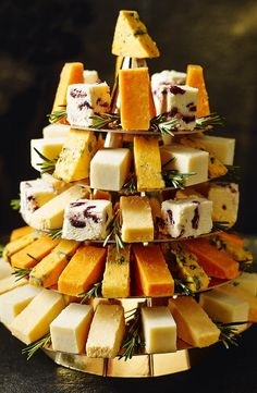 We've taken the festive cheese board to the next level! Introducing the Cheeseboard bite Christmas tree. Serves 20 - 25.
