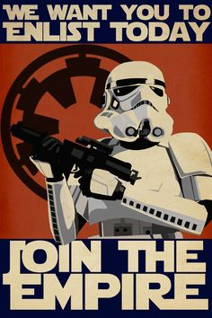 Star Wars Enlistment Poster:) Weston would die for this.
