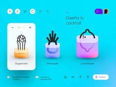 Shake by Cosmin Capitanu on Dribbble Web Design Color, App Ui Design, Mobile App Design, Blue Design, Branding Design, App Design Inspiration, Design Ideas, Web Mobile, Minimal Web Design