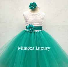 Vestito ragazza di fiore, tutu vestito, Abiti da Damigella, vestito principessa, vestito di tulle top all