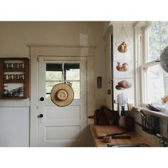 Door is great, just put on your hat and go out to the garden.
