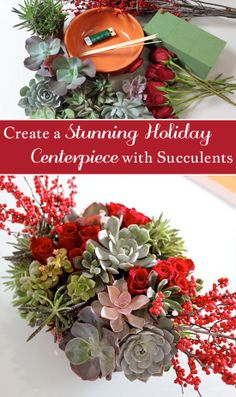An earthy, beautiful centerpiece for your holiday table.