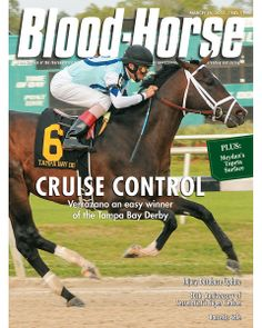 March 16, 2013 Issue 11 Cover of Blood-Horse featuring Verrazano winning the Tampa Bay Derby © Blood-Horse