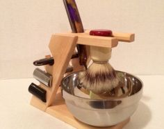 Maple 4 Razor Display/Shaving Stand