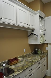 laundry chute into cabinets - this will happen!