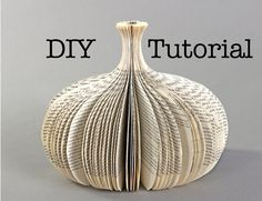 Tutorial: DIY cutting a book sculpture van PaperStatement op Etsy