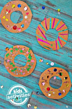 Before making donuts for snack have each child make their own decorated paper donut.
