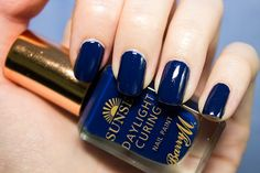 Barry M Sunset Daylight Curing Nail Paint in You Drive Me Navy