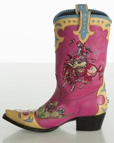 10 Funky Boots Made to Turn Heads - Cowgirl Magazine Rodeo Boots, Cowgirl Boots, Western Boots, Cowgirl Tuff, Cowgirl Outfits, Cowgirl Style, Western Style, Country Style, Riding Boots