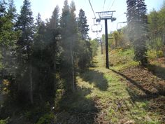Riding on the smaller chair lift at Park City Mountain Resort September 2015