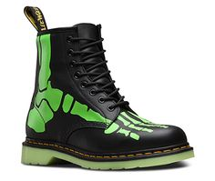 Skelly Boot from Dr Martens website. These are so cool!!! Glow in the dark bones. That would be freaky. I want a pair of these!