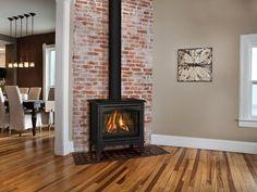 Unique Wall Fireplace With Red Brick 09 - decorrea.com