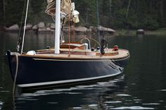 Ginger, 50' daysailer designed by Stephens & Waring, built by Brooklin Boat Yard, Brooklin, Maine
