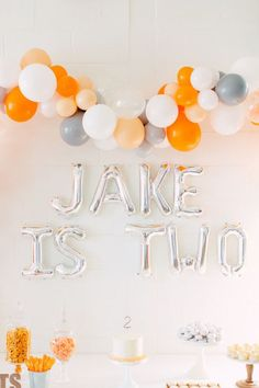 Orange and white modern 2nd birthday 2nd Birthday Party For Boys, Happy Birthday Kids, Second Birthday Ideas, Birthday Gifts For Kids, 10th Birthday, Orange Birthday Parties, Orange Party, Birthday Activities, Party Ideas
