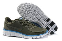 Nike Free 5.0 V4 Mens Army Green Blue Sapphire White 511282 304 [Nike Free 2012 044] - $54.99 : Collecting Cheap Tiffany Free Runs,Tiffany Blue Nikes Online for Customers