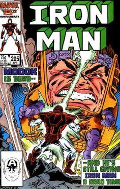 Iron Man 205 April 1986 Issue Marvel Comics Grade by ViewObscura Marvel Comics Superheroes, Marvel Comic Books, Dc Comics, Marvel Heroes, Marvel Characters, Marvel Dc, Iron Man Comic Books, Iron Man Tony Stark, Little Golden Books