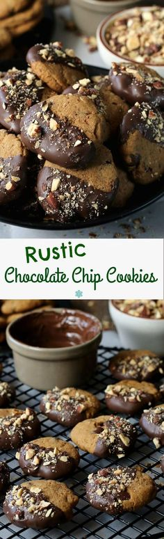 Rustic Chocolate Chip Cookies are simple with a unique flavor. The perfect texture and bite. Dip in chocolate if you like too!