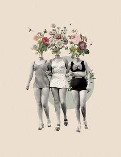 Digital collage by Astrid Torres. Collage Artists, Collages, Collage Illustration, Illustrations, Bar Deco, Magazine Collage, Collage Design, Human Art, Digital Collage