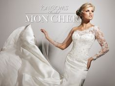 Coming soon! One-shoulder satin mermaid wedding dress!  Style No. T113236 ~Tony Bowls