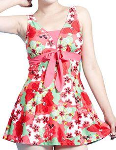 Amazon.com: WantDo Women's Halter Shaping Body One-Piece Swimsuit lovely Swimwear(FBA): Clothing