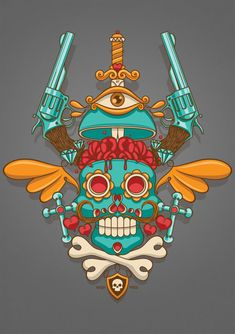 Mexican Skull by NASH-Nicolas Ryffel, via Behance