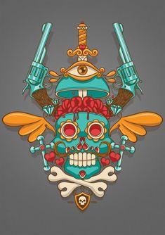 Mexican Skull by NASH-Nicolas Ryffel, via Behance