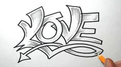 Sketching the word LOVE in a semi wild graffiti style. Description from yourepeat.com. I searched for this on bing.com/images