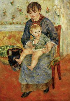 Titre de l'image : Pierre-Auguste Renoir - Renoir / Mere et enfant / 1881