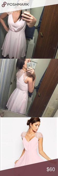 Lace mini dress Mini lace dress in baby pink color ASOS Dresses Mini
