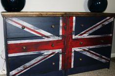 Union Jack dressers - made from 2 Ikea Rast dressers.